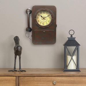 Rustic Iron Desktop Decorative Phone Clock