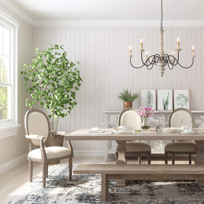 Distressed French Country Farmhouse Chandelier