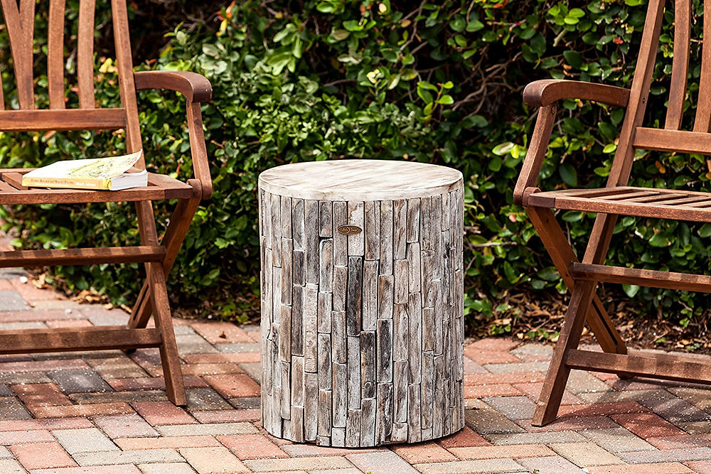 wood garden stool