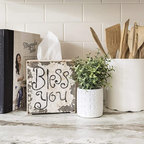 """Bless You"" Tissue Box Cover"