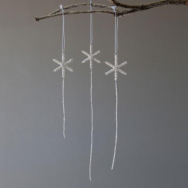Snowflake Beaded Drop Ornaments