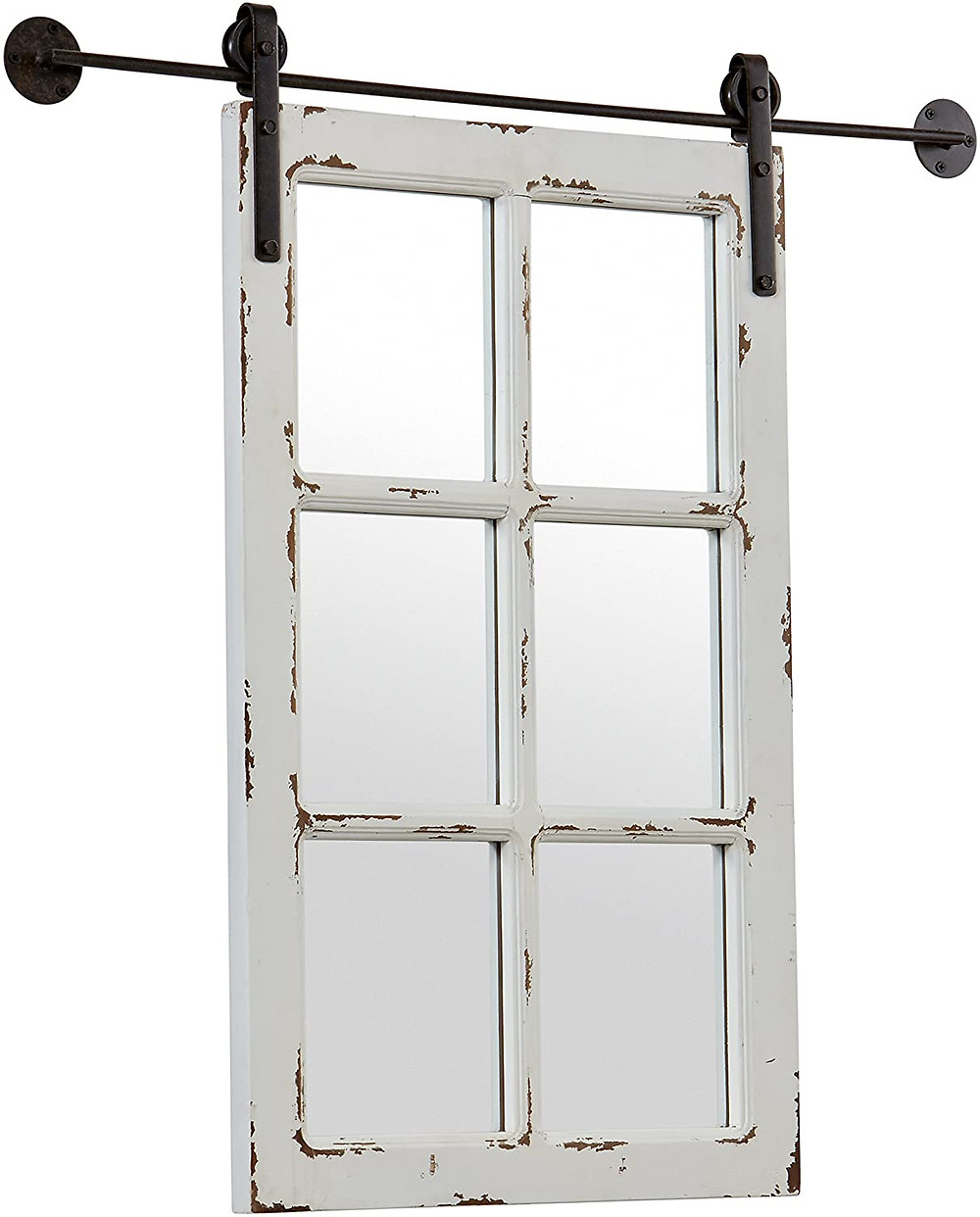 barn door wall hanging mirror