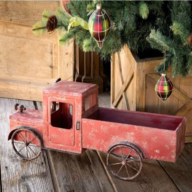 Distressed Little Red Wagon