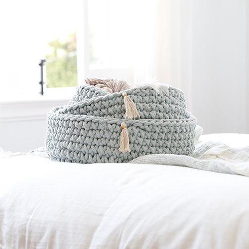 crochet baskets for nursery