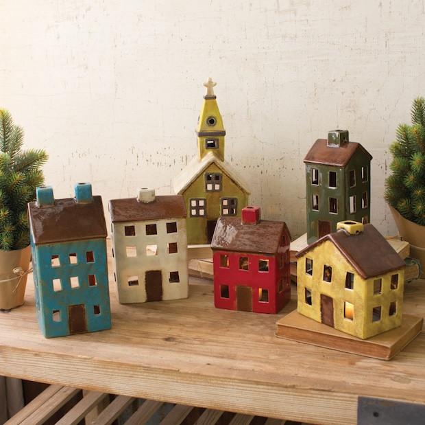 Ceramic Village, Set of 6