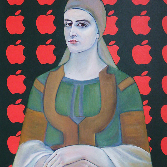 GIRL IN FRONT OF AN iAPPLES