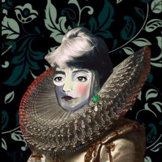 "self-portrait digital collage /part of a solo project - ""ONE BILLION SECONDS"" 2020"