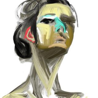 "digital self-portrait /part of a solo project - ""ONE BILLION SECONDS"" 2020"