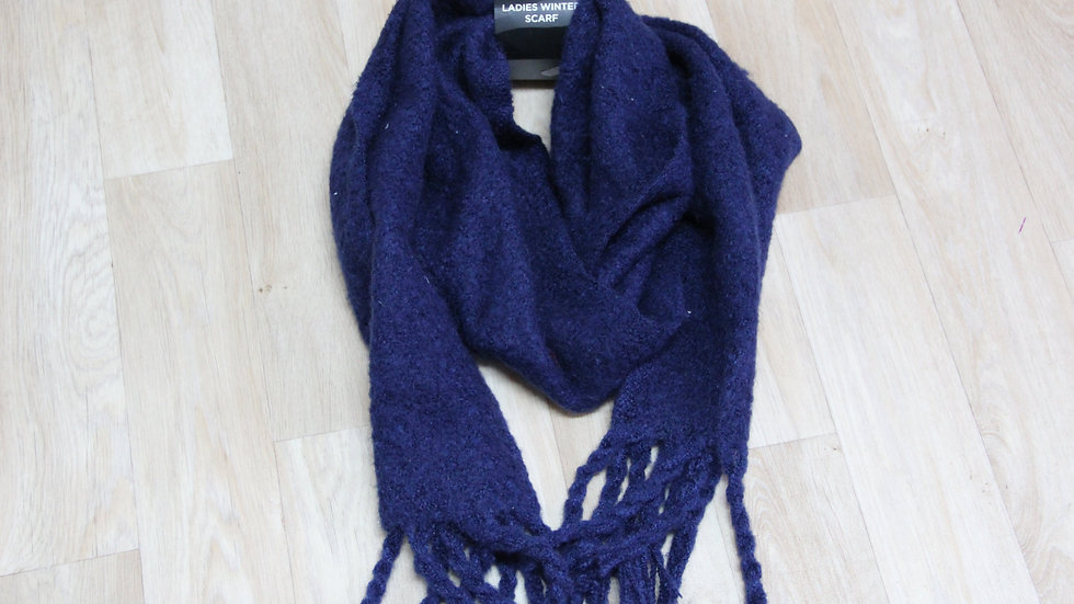 Ladies Navy Winter Scarf