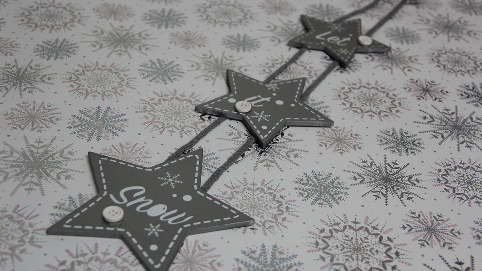 Let It Snow Christmas Hanging Decor