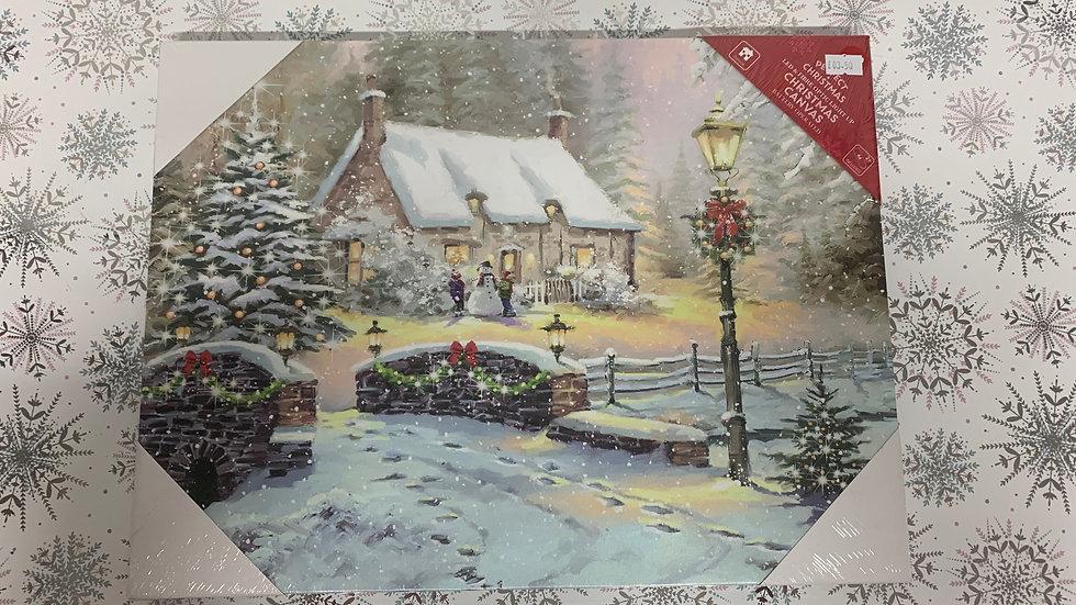 Festive Scene Christmas Canvas