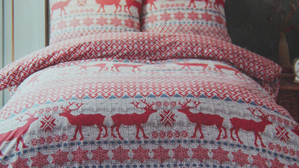Red Festive Duvet Set