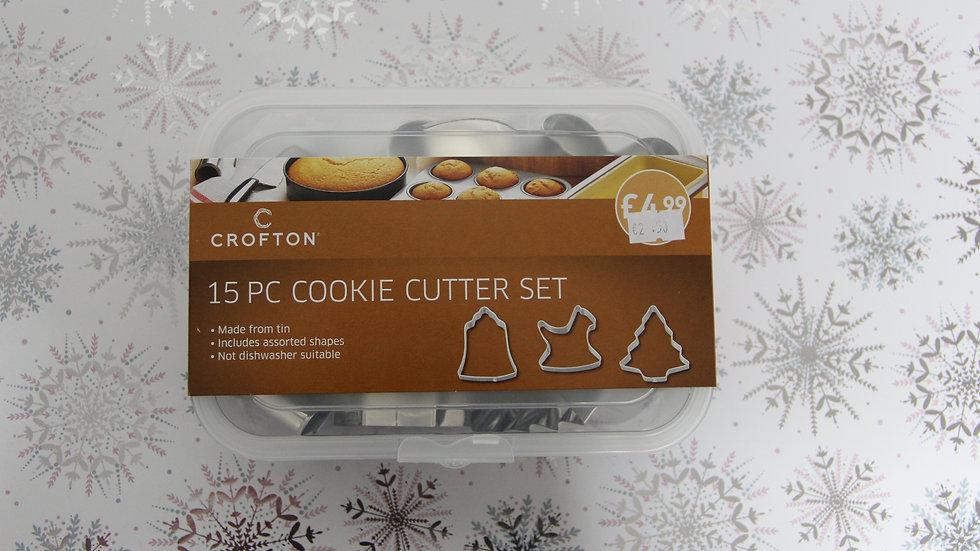 15 piece cookie cutter set
