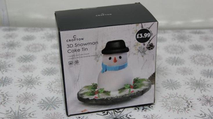 3D Snowman Cake Tin