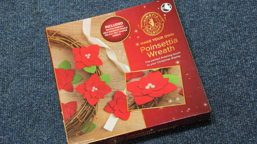 MYO Poinsetta Wreath