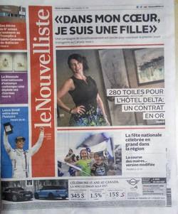 Page couverture du Nouvelliste juin