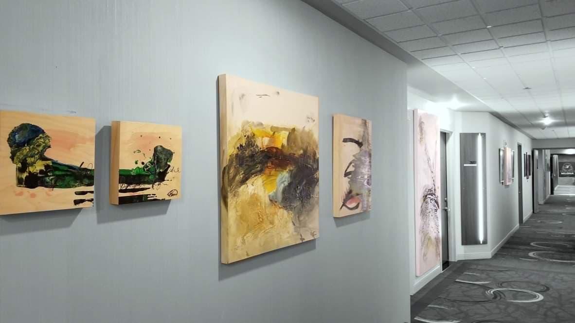 Exposition solo plus de 4 ans au Delta par Marriotte de Trios-Rivières