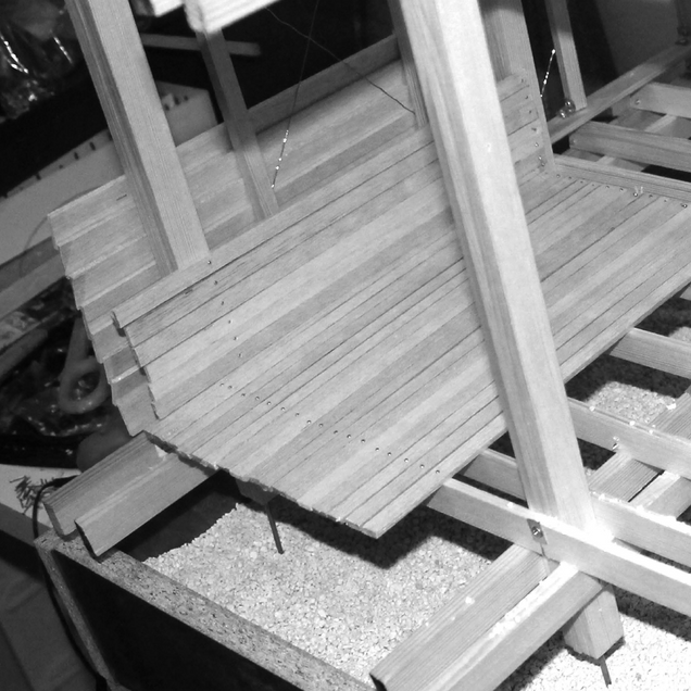 timber moment frame, structure, physical model