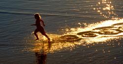 Golden footsteps -  Sumner beach