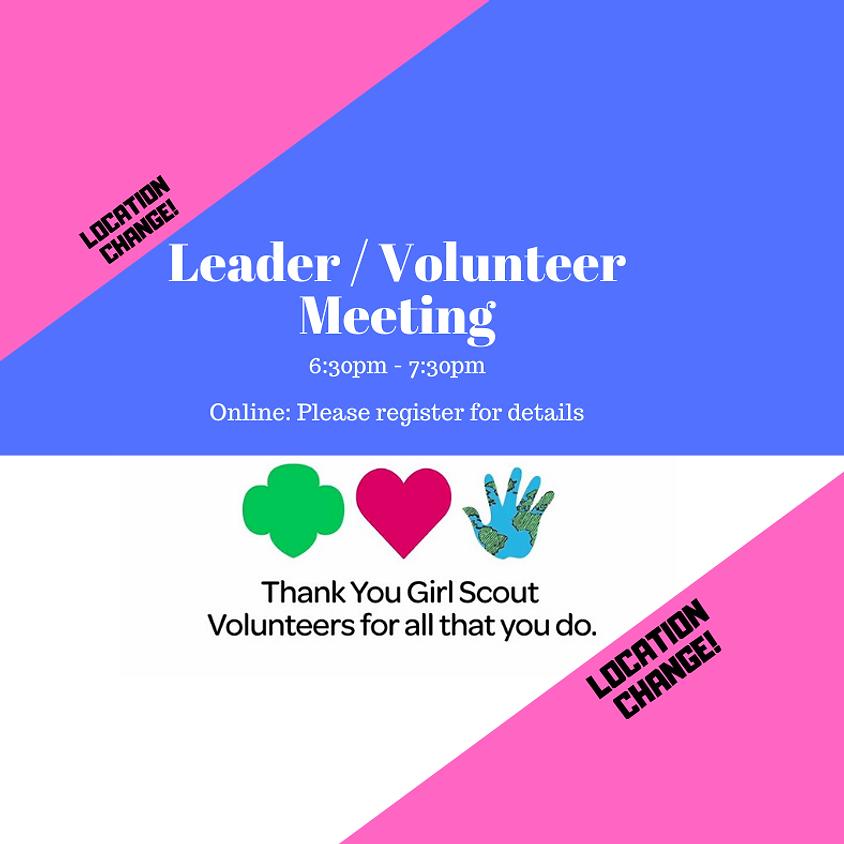 Leader/Volunteer Virtual Meeting - May