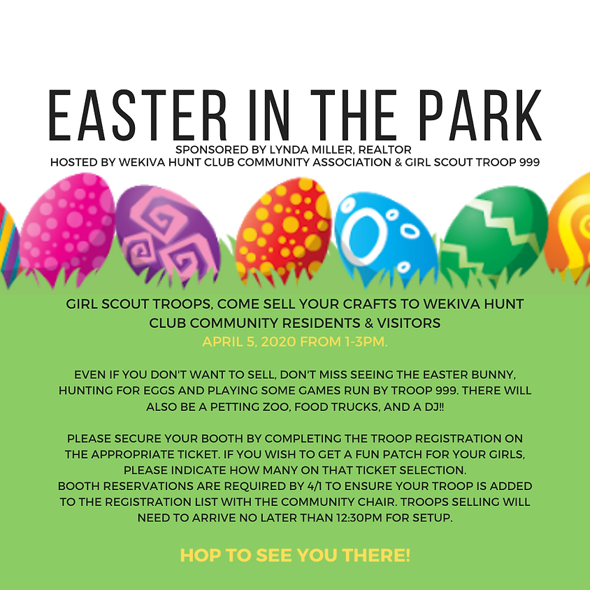 Easter in the Park 2020 - Hosted by Troop 999
