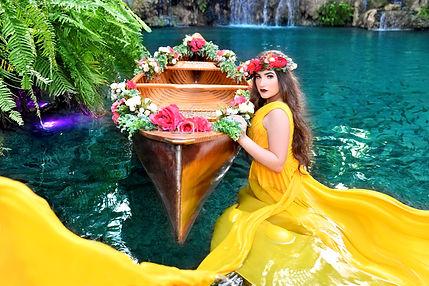 foto de quince en canoa  Secret Garden