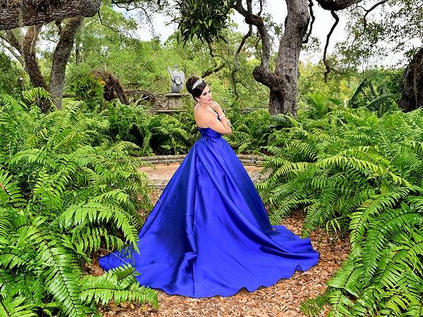Foto de Quinceañera con vestido de princesa  en Vizcaya