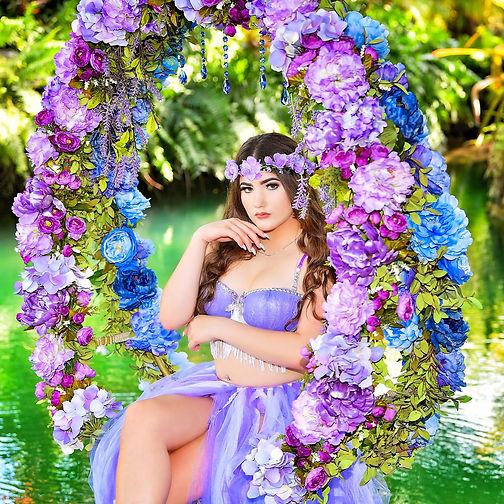 foto de quince  tematica floral secret garden