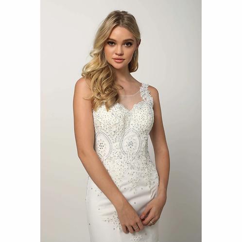 Embellished Lace Mermaid Wedding Dress 654W