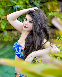 beauty photoshoot for quince in waterfall