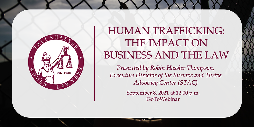 """""""Human Trafficking: The Impact on Business and the Law"""" & Presentation of Rose Deeb Kitchen Award"""