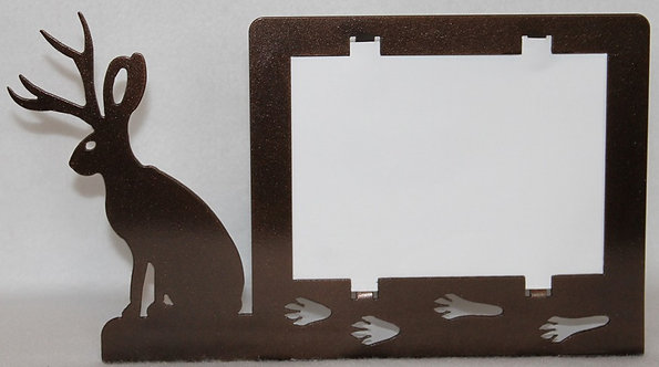 """Jack-A-Lope Rabbit 5"""" X 7"""" Picture Frame"""