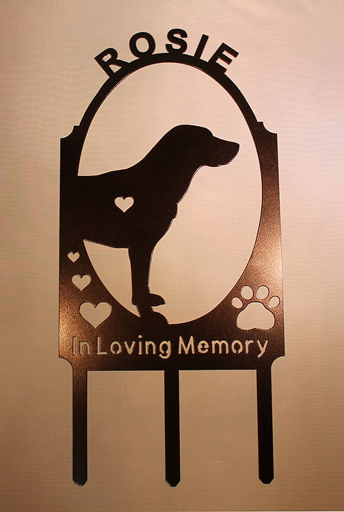 Dog Pet Memorial Marker PERSONALIZED Many BREEDS Available