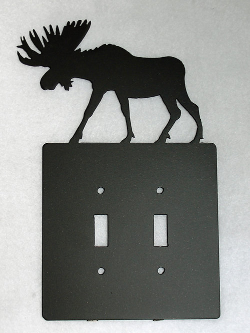 Moose Double Switch Wall Plate Cover