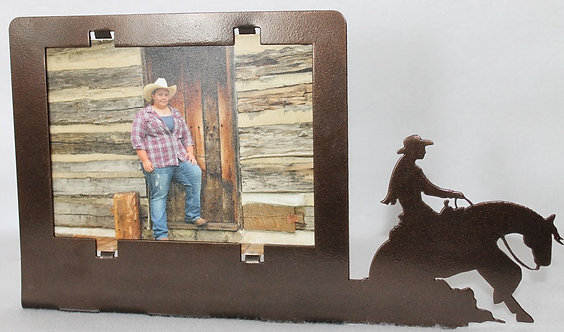 "Ladies Reining or Barrel Racing Horse 5"" X 7"" Picture Frame"