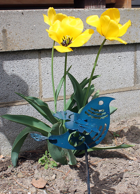 Ornamental 3-D Bird Yard Garden Stake