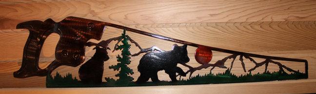Bear Cubs Hand Saw Scene