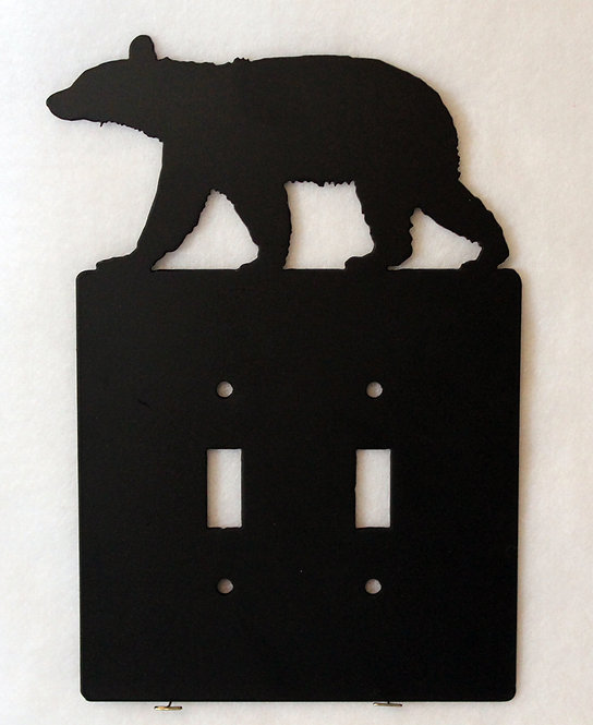 Bear Double Switch Wall Plate Cover