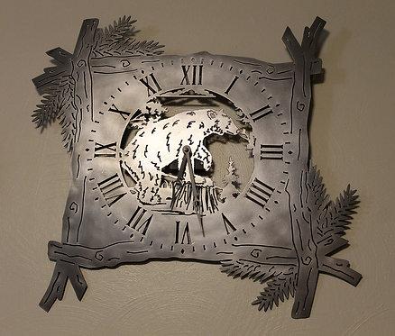 Bear Clock in Branch Frame