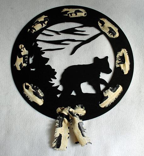 Bear Cub Ribbon Wreath