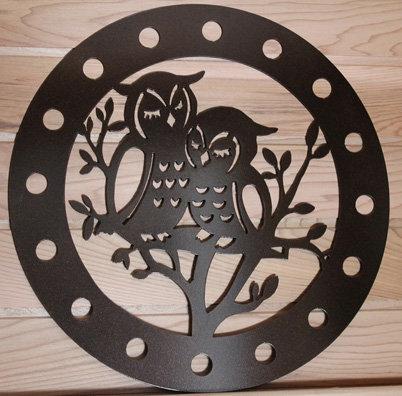 Owl Pair Ribbon Wreath