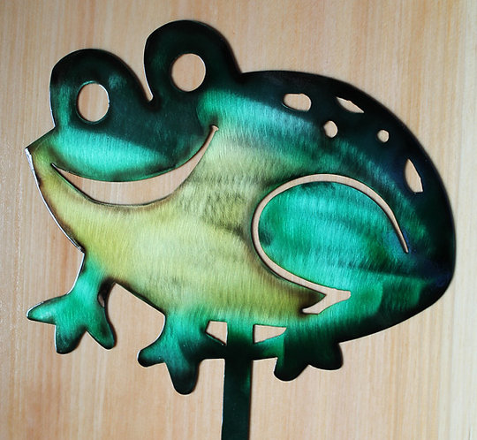 Frog Yard and Garden Lawn Stake or Toad Hand Painted