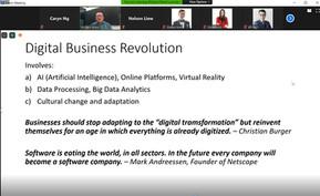 Richard Khoo sharing the revolution of digital business
