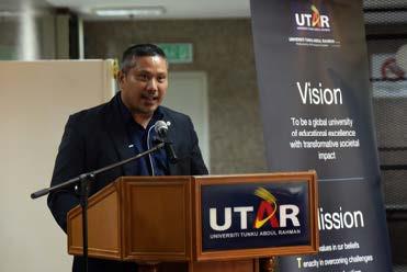Prof Max Shangkar delivering his speech.