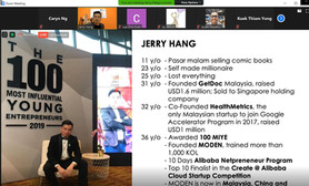 Jerry sharing his timeline and experience with the participants