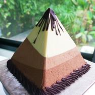 Pirámide triple mousse