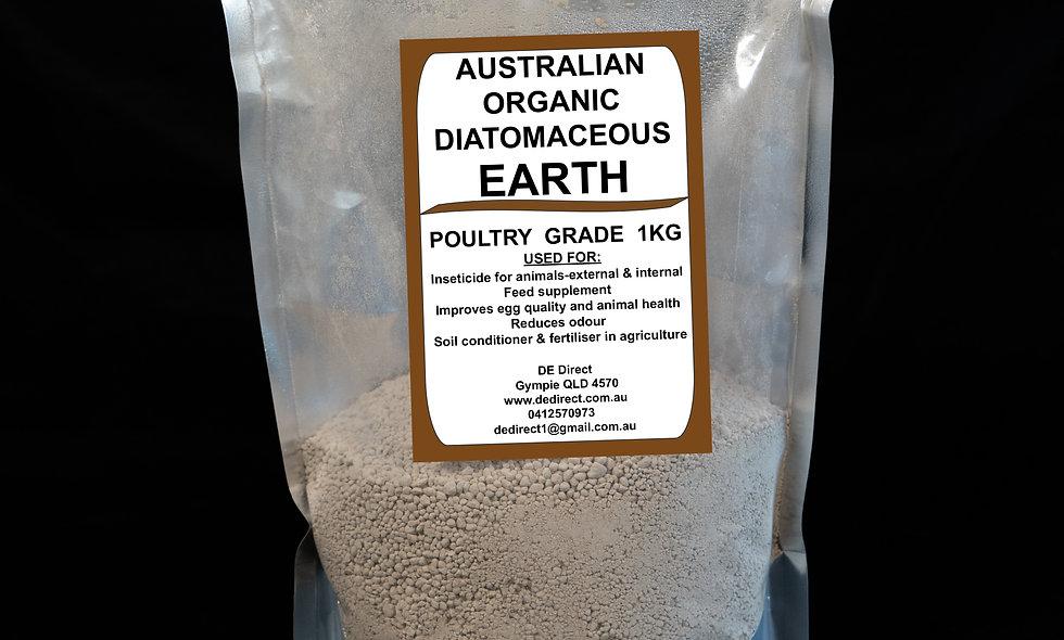 1 kg Poultry Grade Diatomaceous Earth (2-4mm)