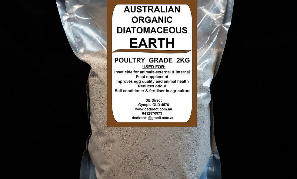 2 kg Poultry Grade Diatomaceous Earth (2-4mm)