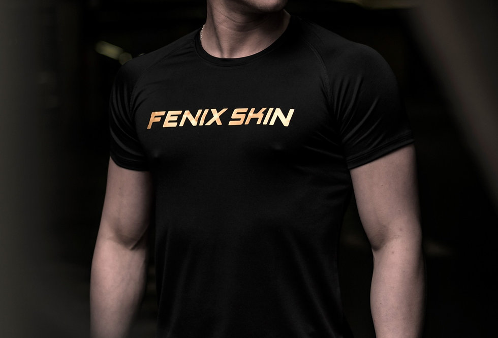 Iconic T-Shirt - Golden Black