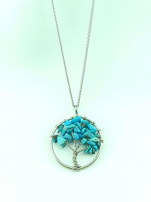 Doğal Taş Hayat ağacı kolye